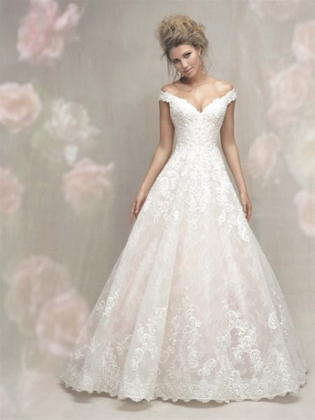 Cap Sleeve Off The Shoulder Lace Ball Gown Wedding Dress  Kleinfeld Bridal