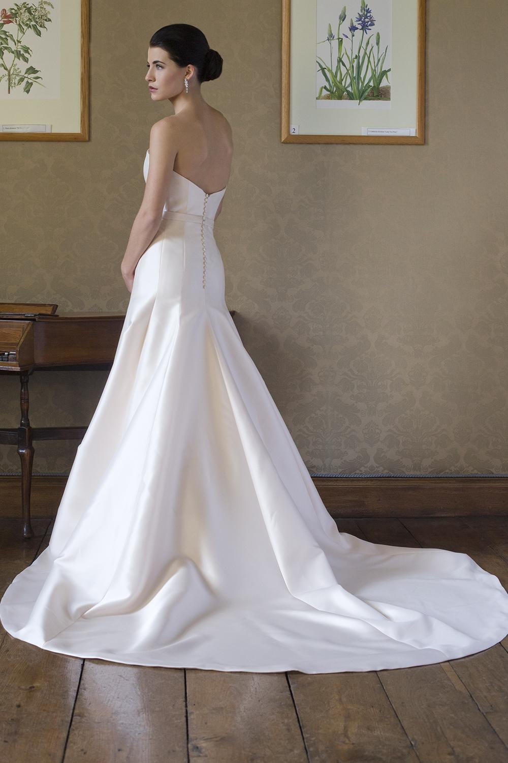 Simple Satin Sweetheart Neck Fit And Flare Wedding Dress  Kleinfeld Bridal