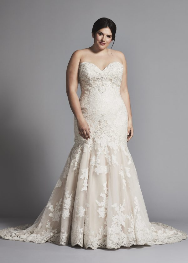 Strapless Lace Mermaid Wedding Dress Kleinfeld Bridal