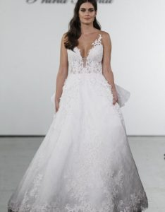 line lace embroidered wedding dress by pnina tornai also category kleinfeld exclusives bridal rh kleinfeldbridal