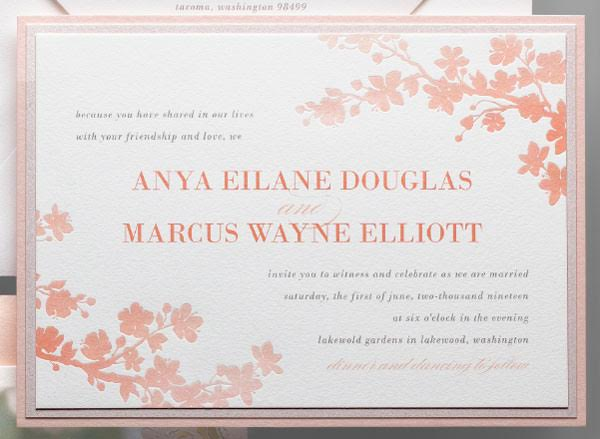 Modern Wedding Invitation Wording To Create A Graceful Design With Appearance 9