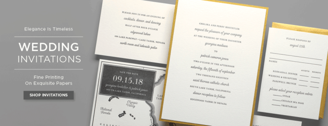 Wedding Invitation Banner Response Card Enclosure Cards