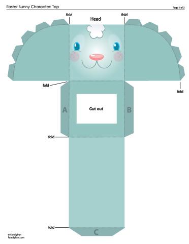 Family Fun _Easter_Bunny_Character zum basteln