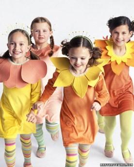 DIY Flower bouquette costume