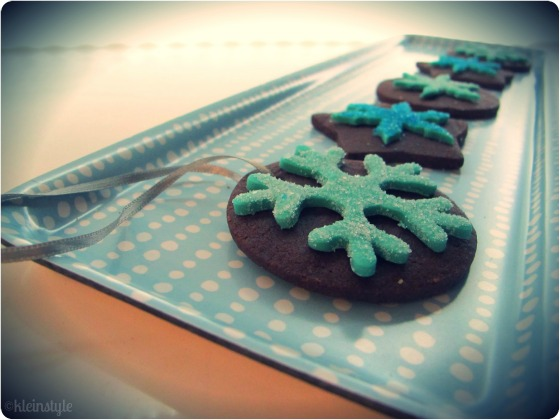 xmas ornament cookies made by kleinstyle