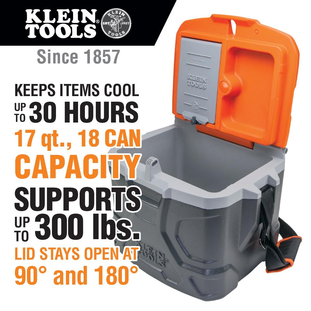 Tradesman Pro Tough Box 17Quart Cooler  55600  Klein Tools  For Professionals since 1857