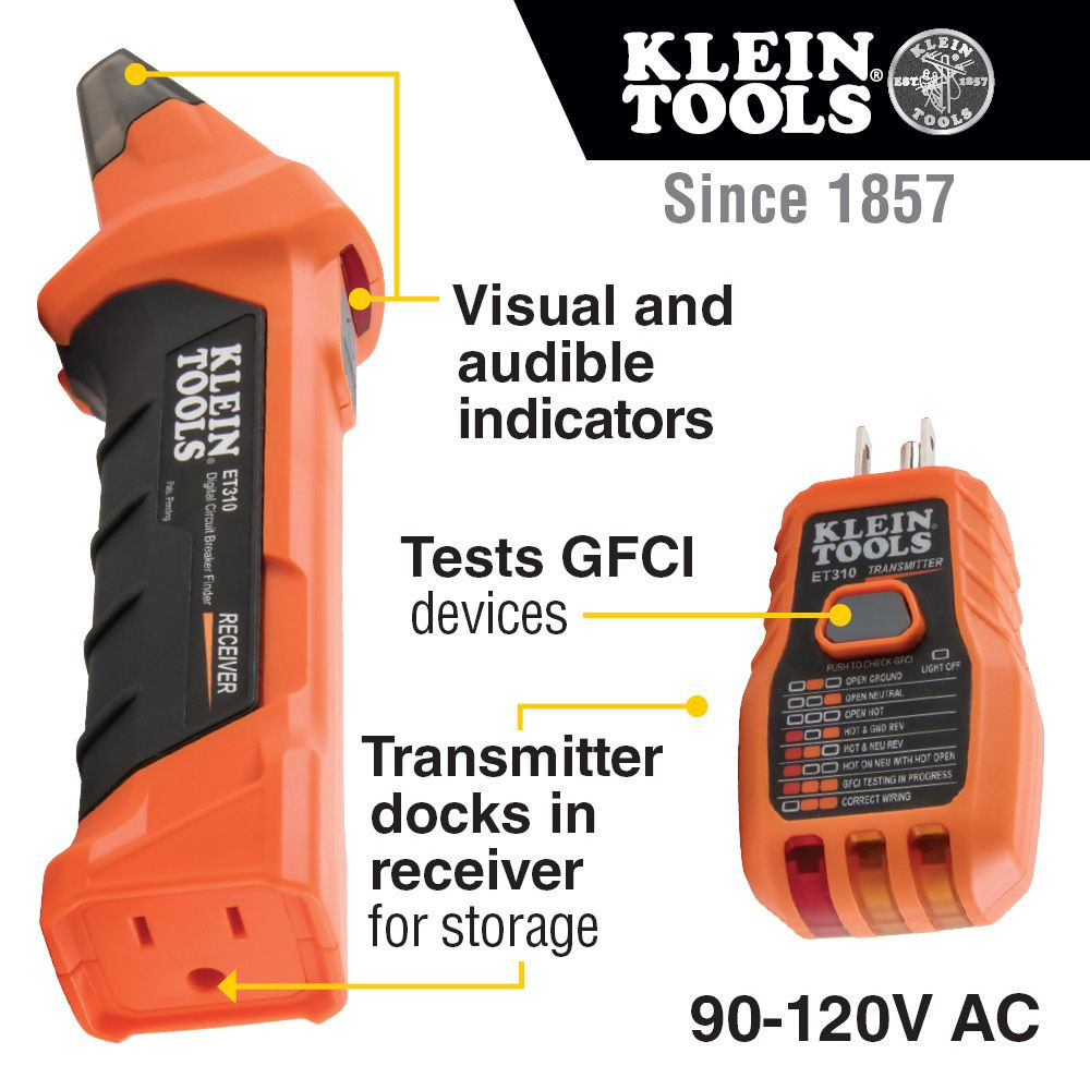hight resolution of digital circuit breaker finder with gfci outlet tester