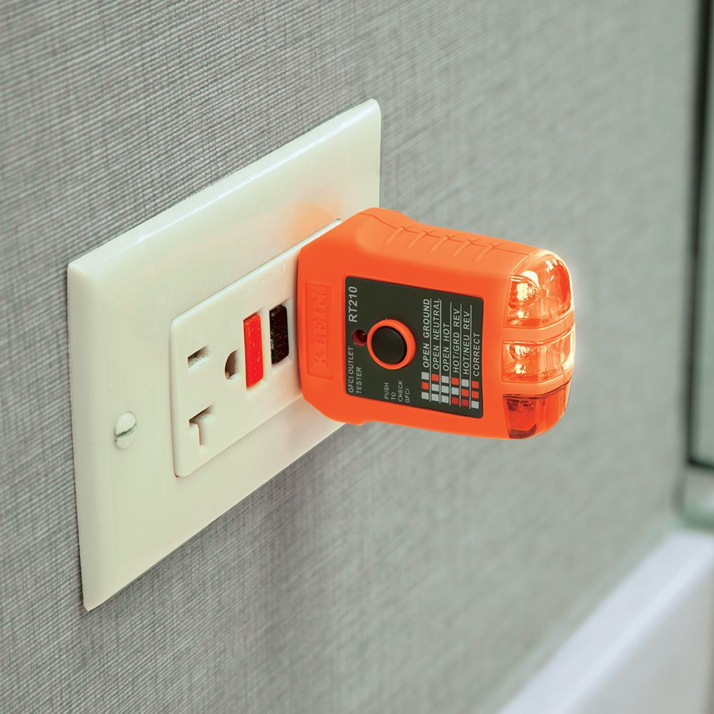 hight resolution of gfci receptacle tester