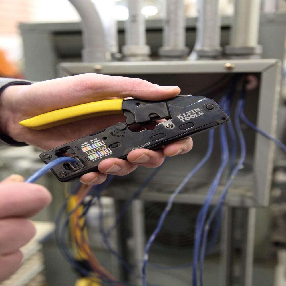 rj45 t568b wiring diagram audi tt window motor compact ratcheting modular crimper vdv226 107 klein tools for