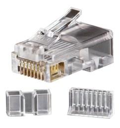 modular data plugs rj45 cat6 25 pack [ 1000 x 1000 Pixel ]
