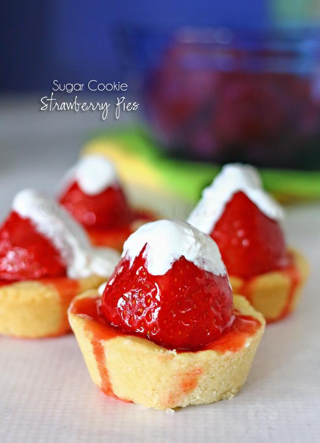 Sugar Cookie Strawberry Pies