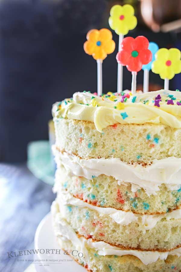 Spring Funfetti 174 Cake Kleinworth Amp Co