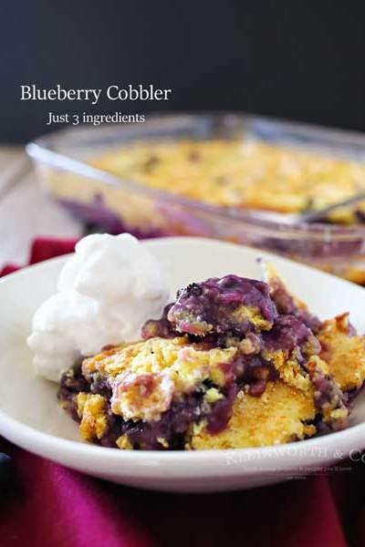 Blueberry Cobbler {Kleinworth & Co}