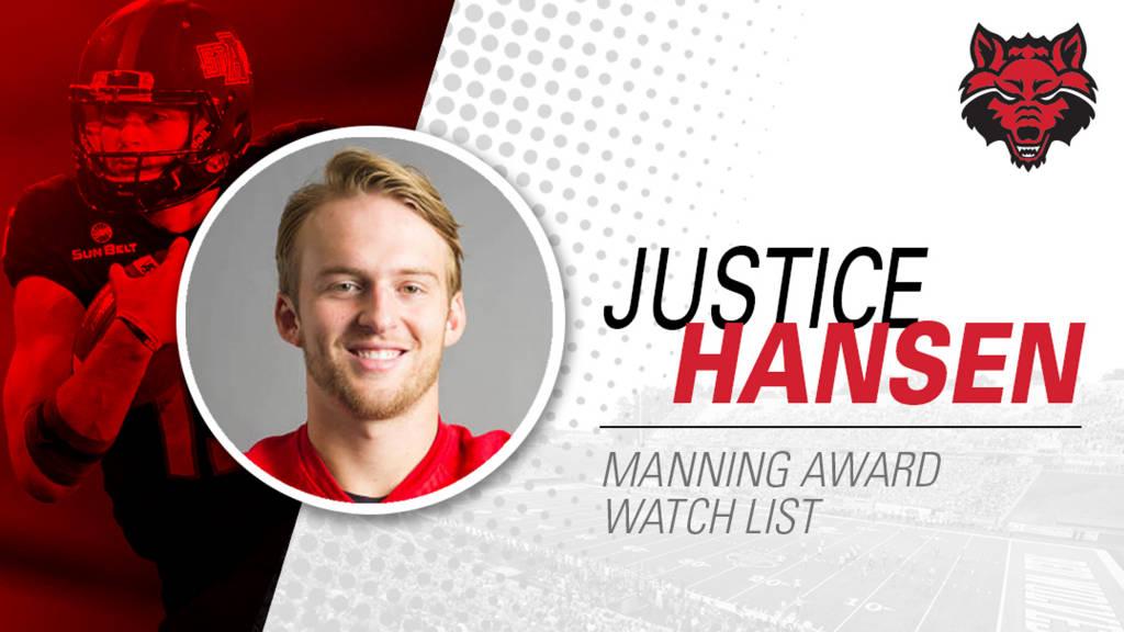 A-State's Hansen Named to Manning Award Watch List