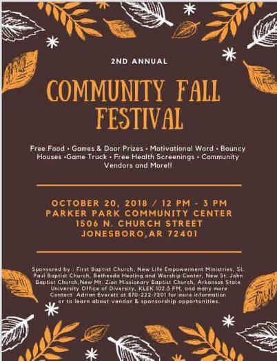 2nd Annual Community Fall Festival