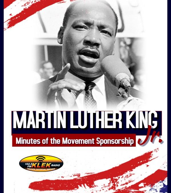 Dr. Martin Luther King Jr. Messages Sponsorship