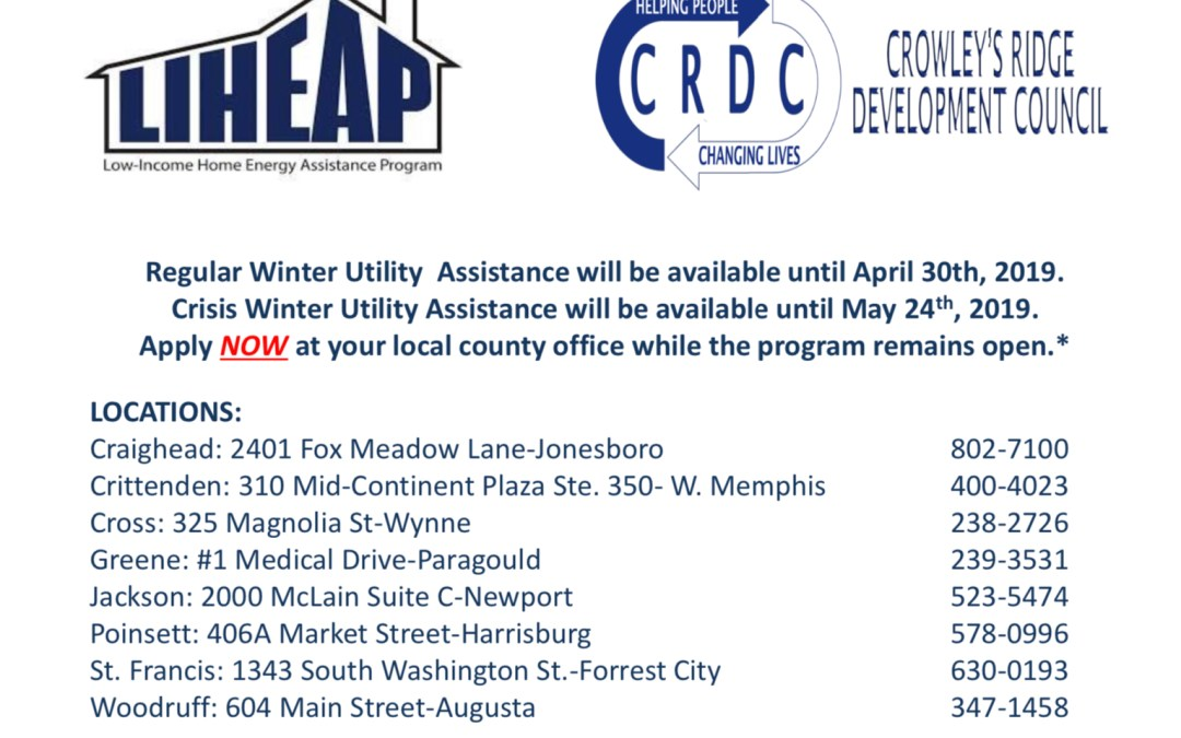 Crowley's Ridge Development Council's Low Income Home Energy Assistance Program Nearing an End
