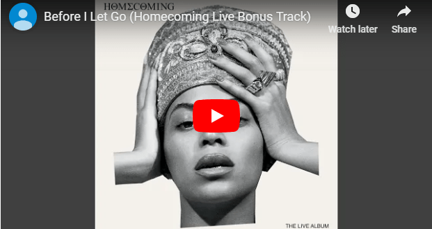 "Beyoncé Drops Remake of Frankie Beverly's ""Before I Let Go"" and we Love it!"