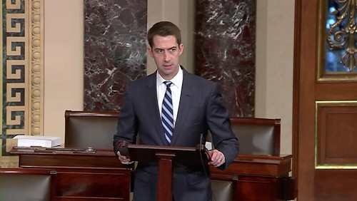 Cotton Warns Colleagues About Withholding Support for Saudi Arms Deals