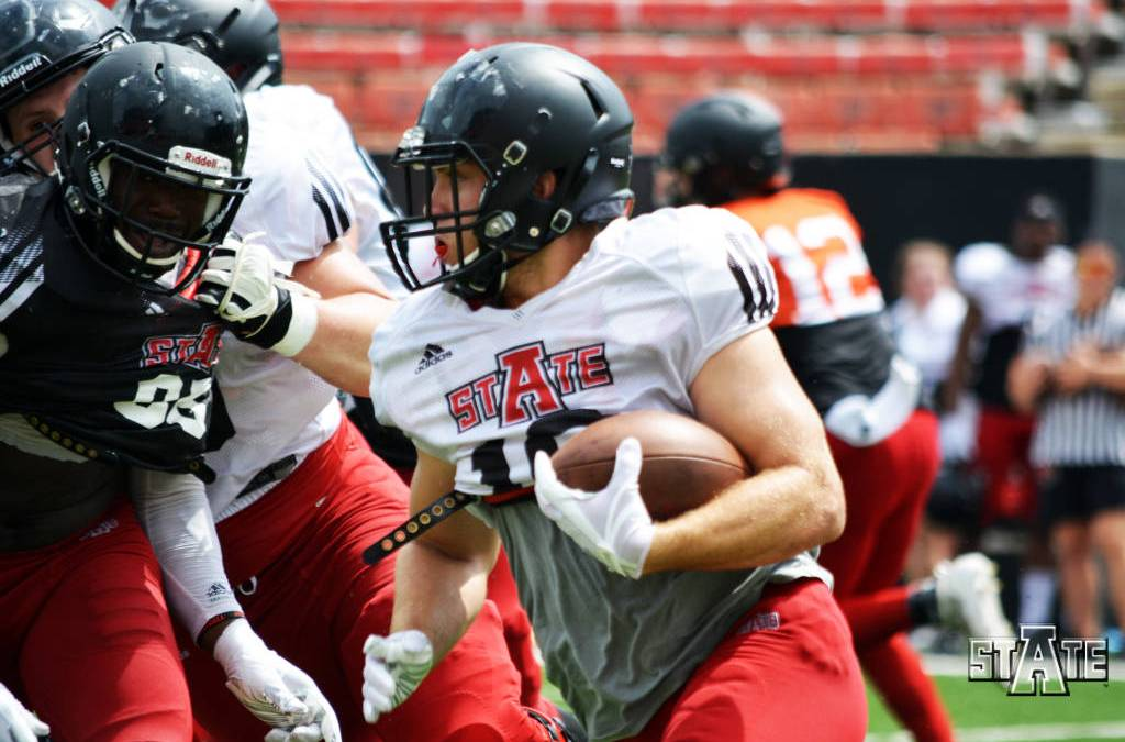 A-State Football Conducts First Scrimmage of 2019 Fall Camp