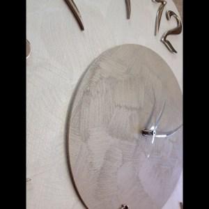 OROLOGIO IN LEGNO  FIORE 50 X50