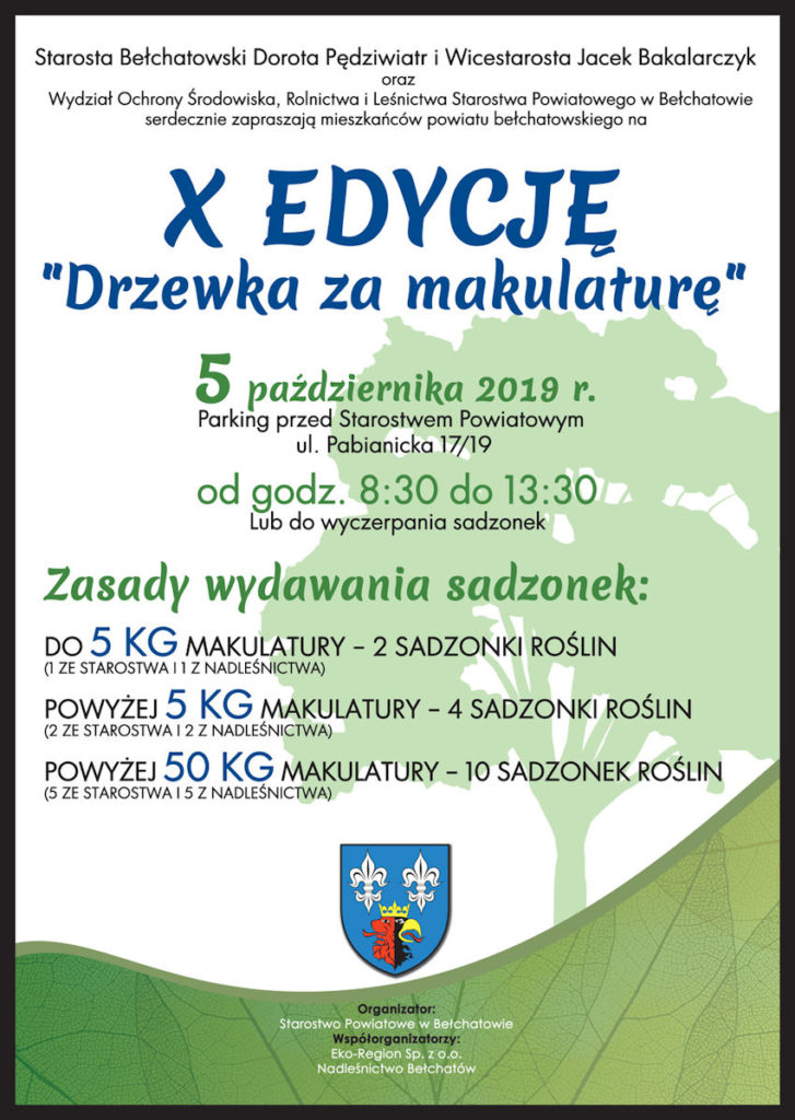Plakat - Drzewko za makulaturę