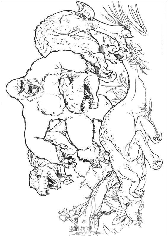 kleurplaten en zo » Kleurplaat van King Kong
