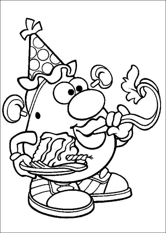 Mr Potato Head Parts Printables Mrs Sketch Coloring Page