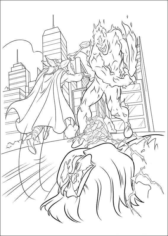 Dibujos Para Colorear E Imprimir Thor