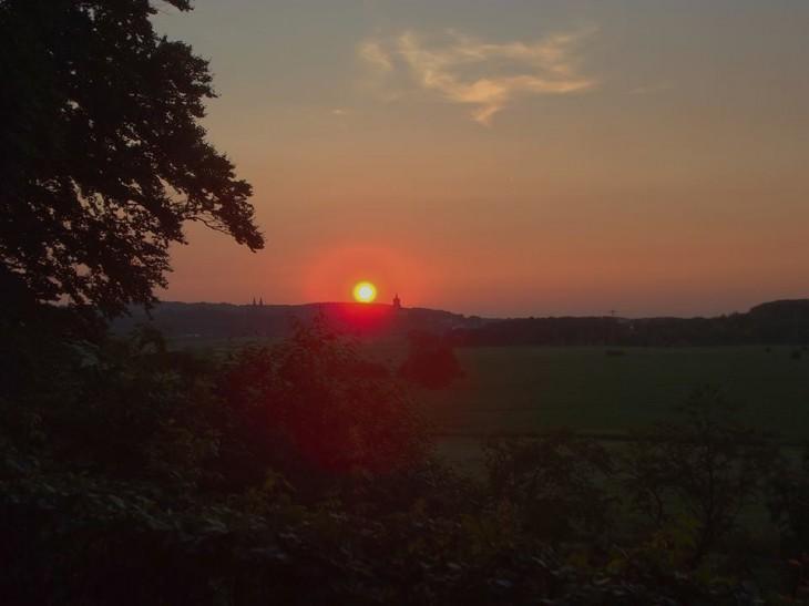 Sonne titscht auf Endmoräne (Foto © Christian Flock)