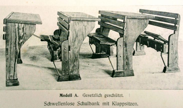"""Vieles hat sich geändert, seit die Niederrheinische Schulbankfabrik Heinrich Hübecker Anfang des 20. Jahrhunderts ihre """"schwellenlose Schulbank"""" auf den Markt brachte. Schwellen und Hemmschwellen, so scheint es, gibt es trotz weiter veränderten Mobiliars immer noch"""