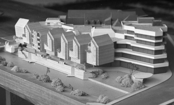 Wenn die Welt dem Architekten gefällt: das Spoy-Center in der Prägung, in der die Politik über die Verwirklichung des Projekts entschied