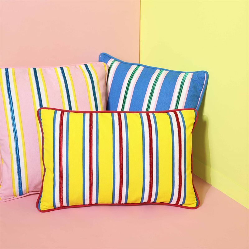 cushion stripe yellow rectangle