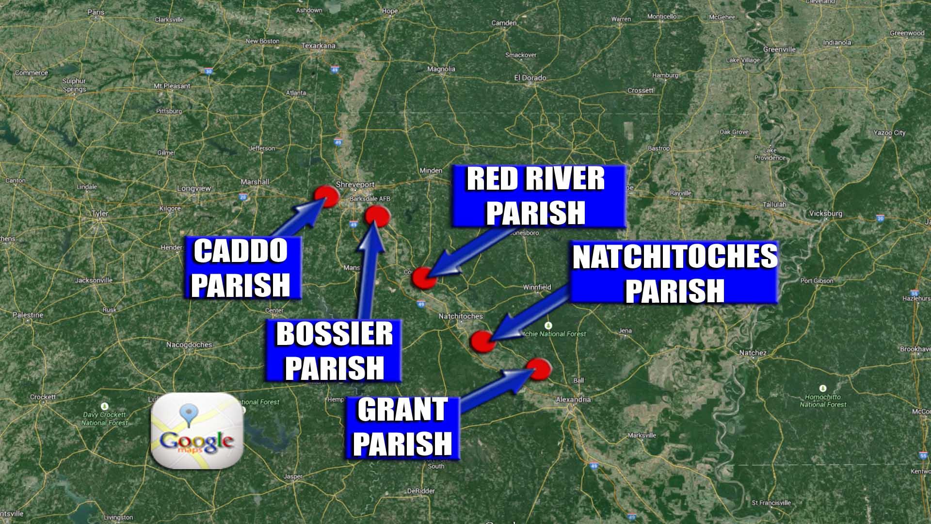 MAP DISASTER DECLARATION PARISHES_90872
