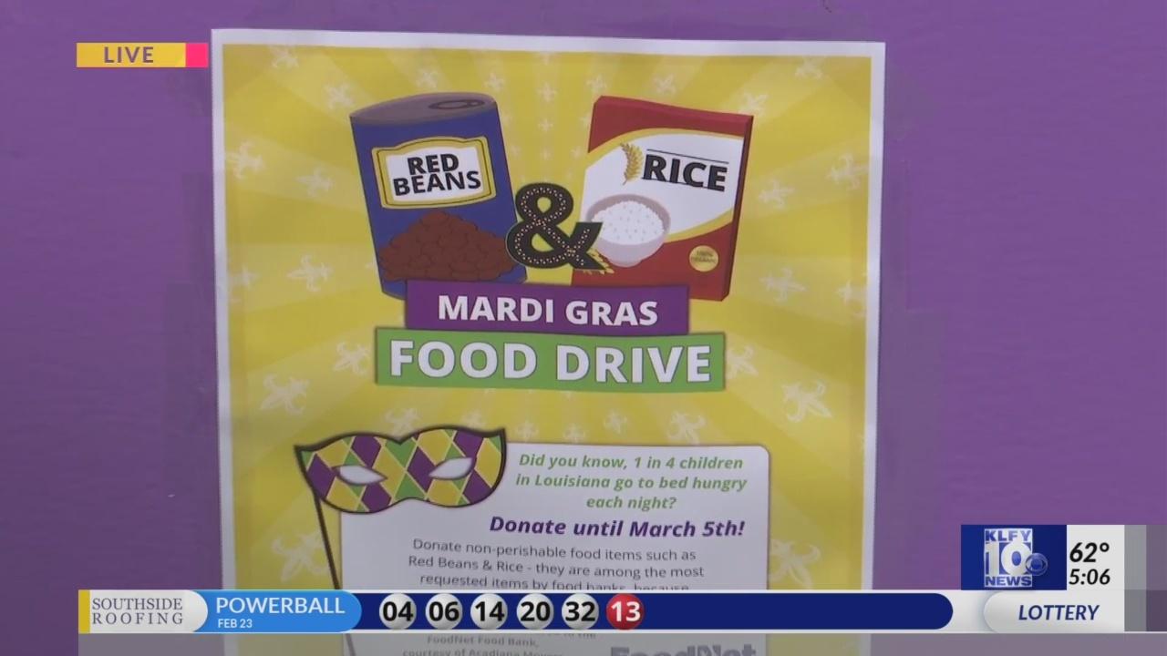 Mardi gras food drive part one
