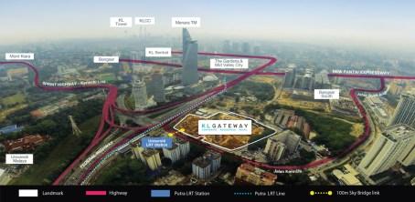 KL Gateway Location Map
