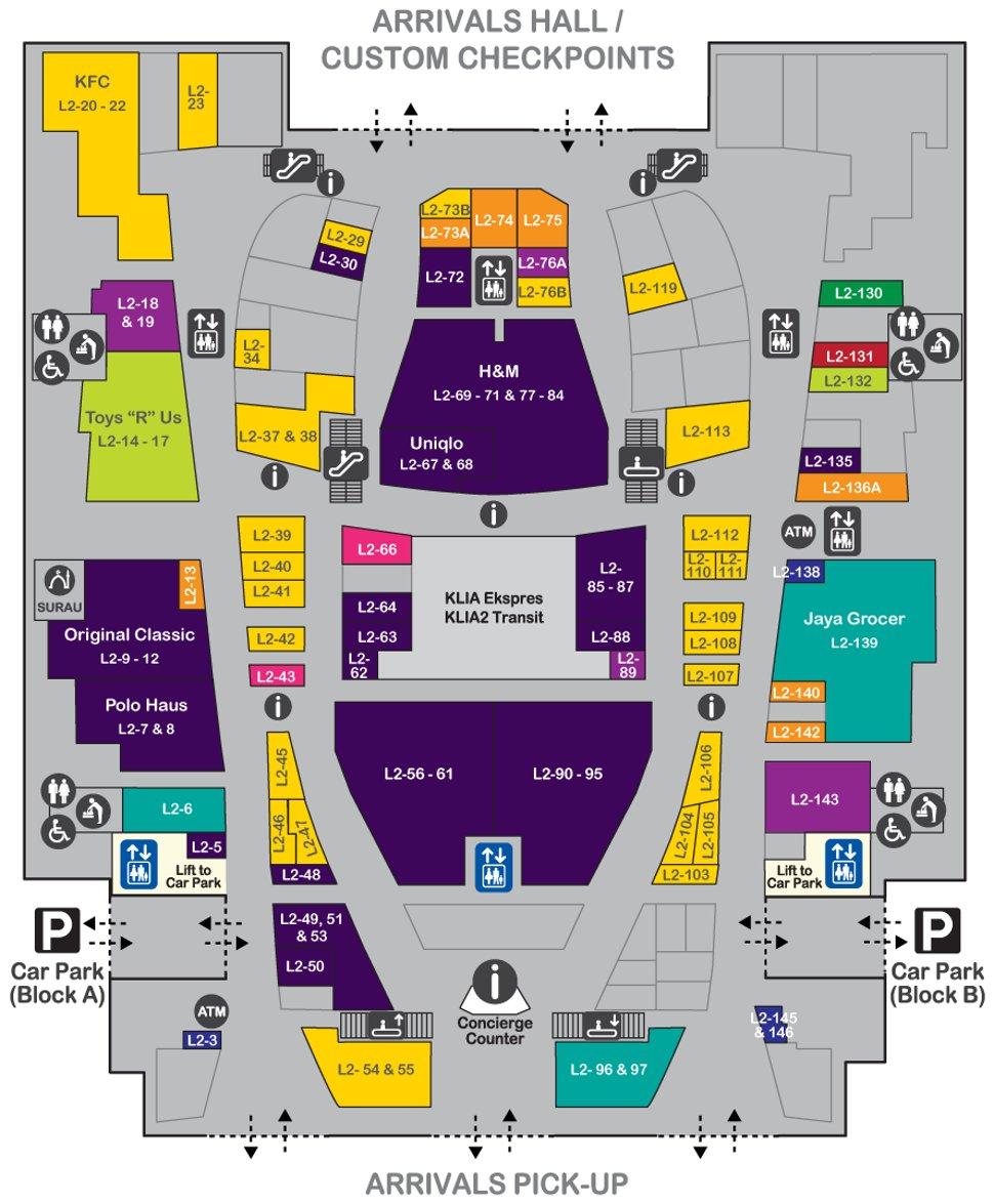 hight resolution of layout plan level 2 of gateway klia2 mall