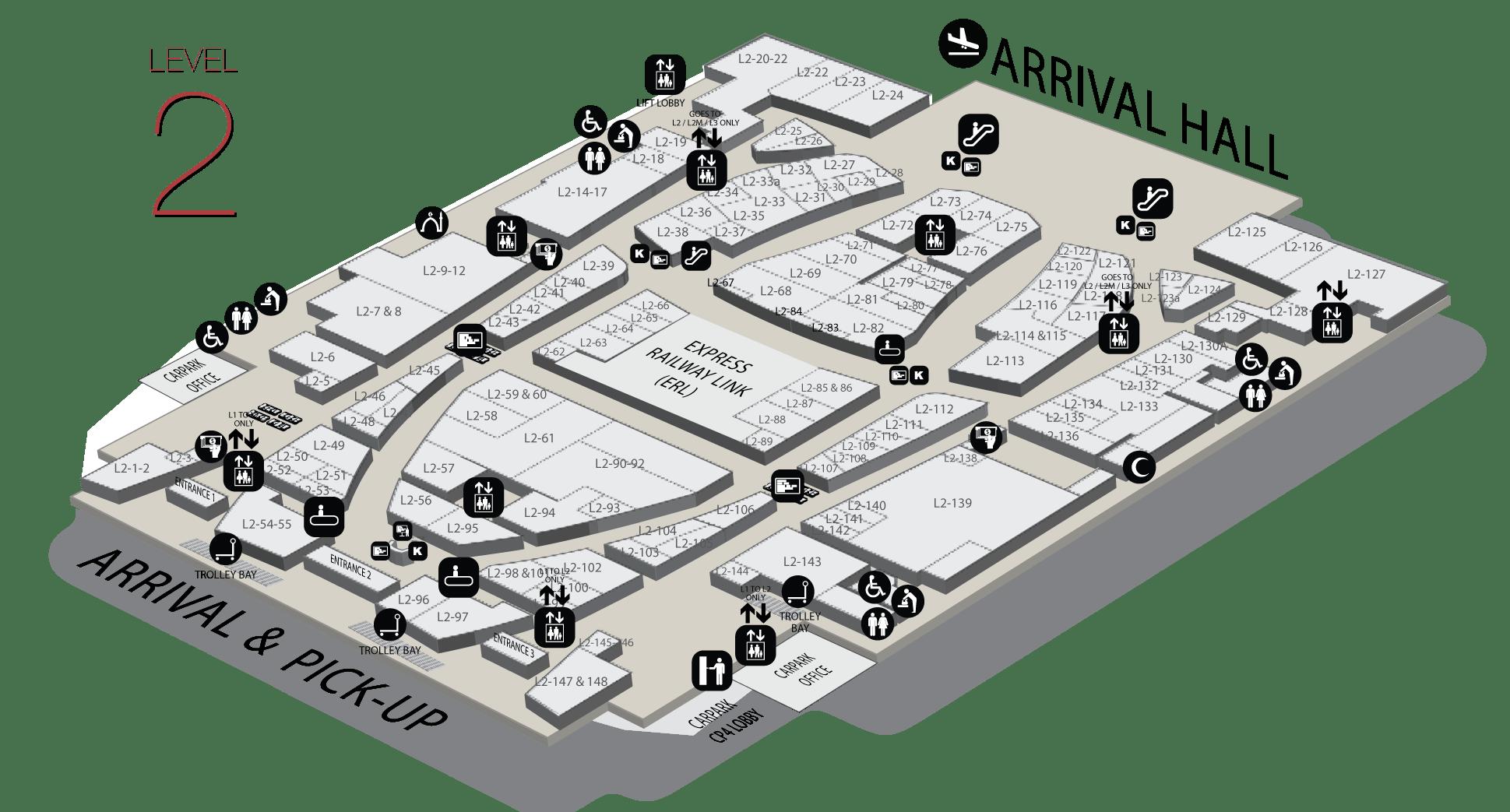 hight resolution of gateway klia2 level 2