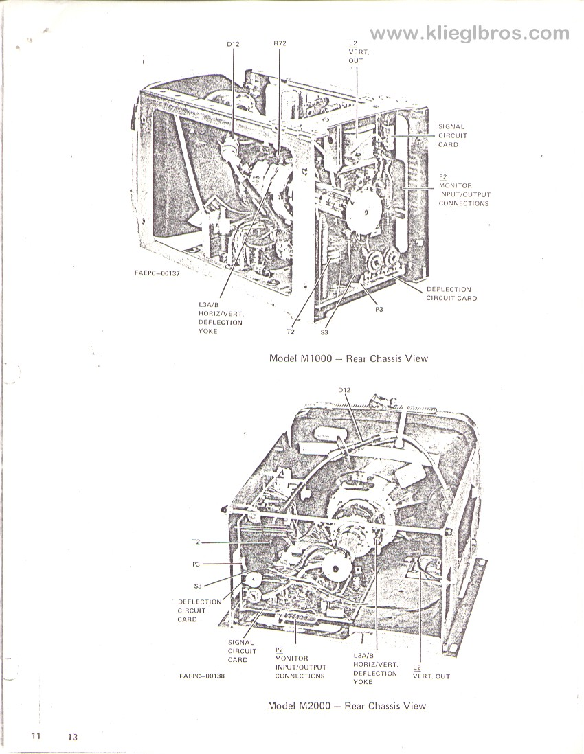 Performer Motorola Monitor VP16 Models M1000-100, M1000