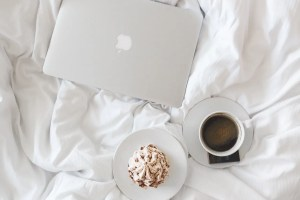 coffee, cup, macbook