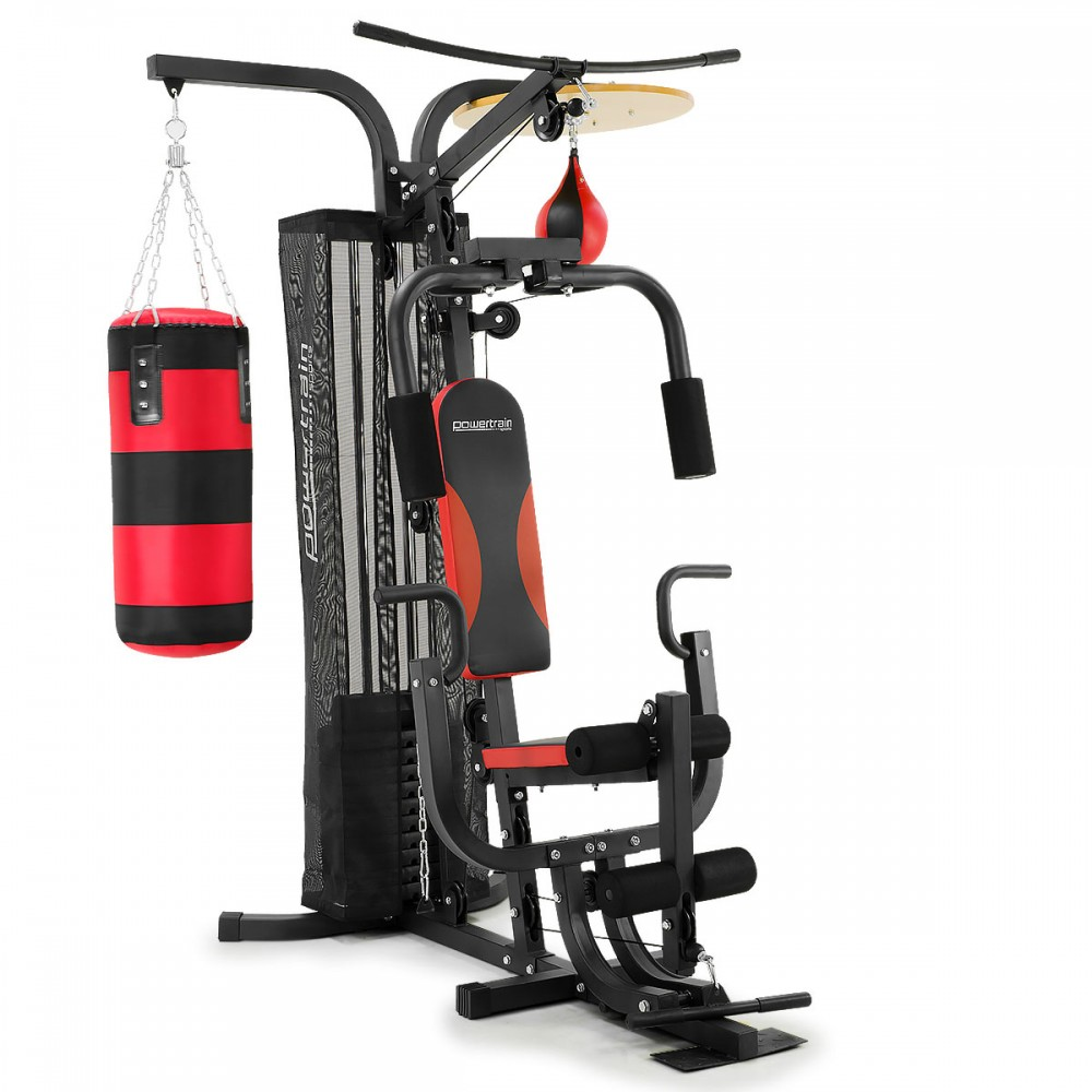 Powertrain Home Gym Station w Boxing Punching Bag  Speed