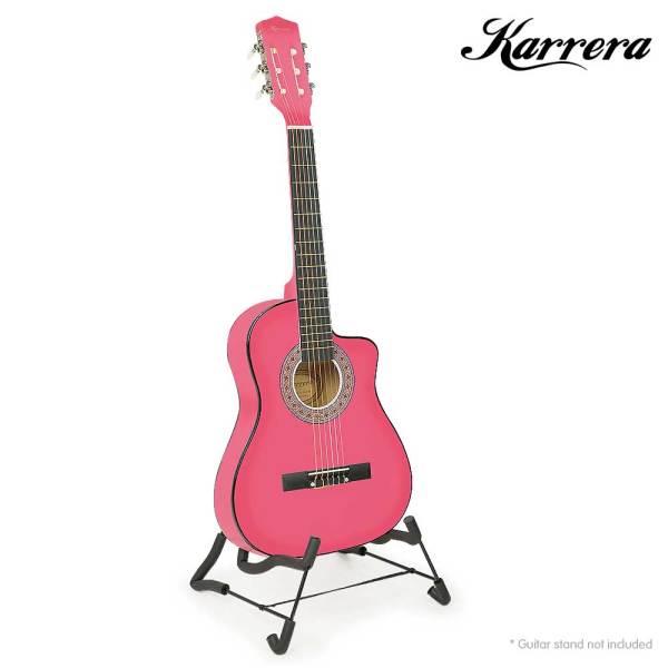 Kids Pink Acoustic Guitar
