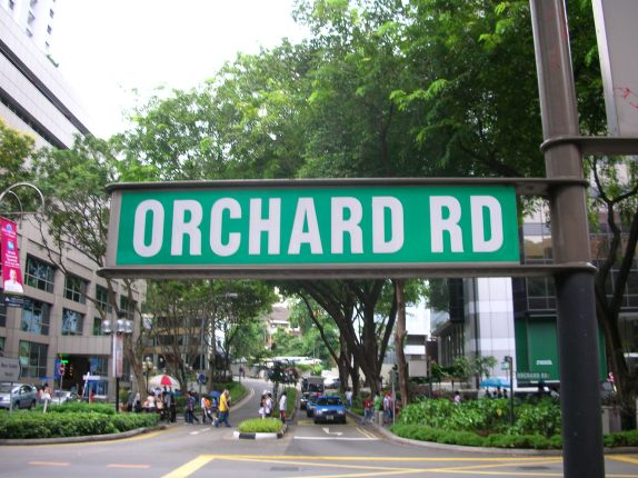 Orchard Road.
