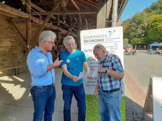 v.l. Martin Kessler - BIOASIS, Rolf Weber - GWÖ-ERW, Dieter Klück - BEG 58