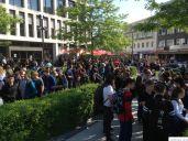 Schülerdemo Fridays For Future Hamm, 24.05.2019: Vor dem Kleistforum und in der Fuzo wurde es eng.
