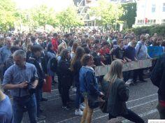 Schülerdemo Fridays For Future Hamm, 24.05.2019: Kundgebung vor dem Rathaus.