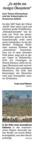 Leserbrief Franz-Josef Mester, WA 31.08.2019