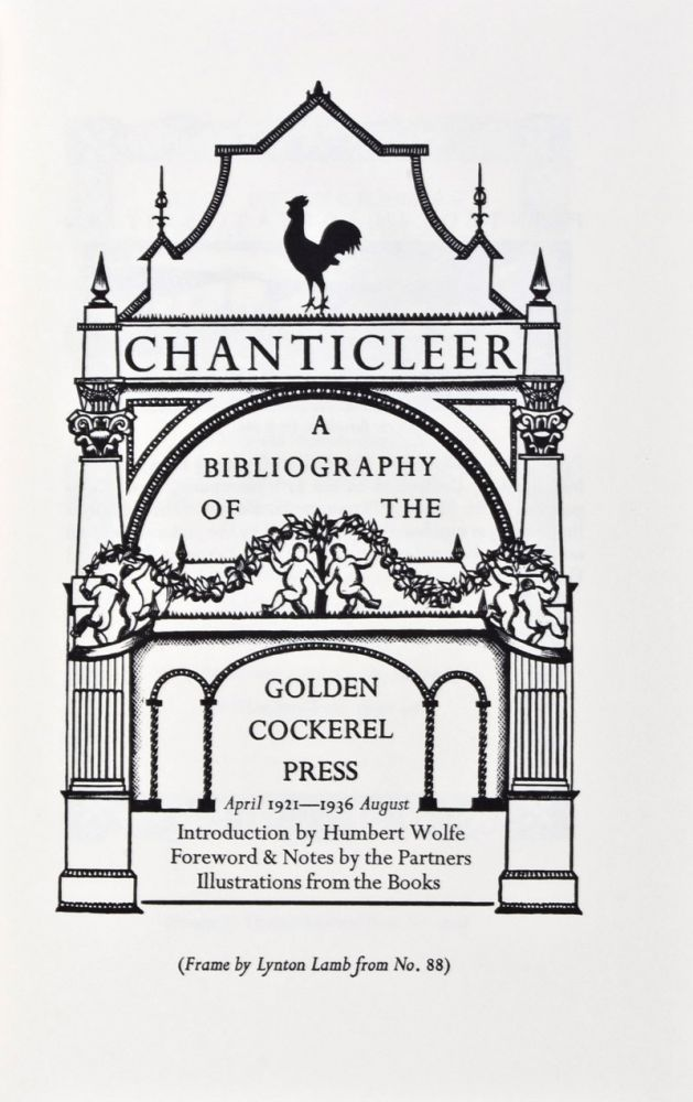Bibliography of the Golden Cockerel Press, 1921-1949