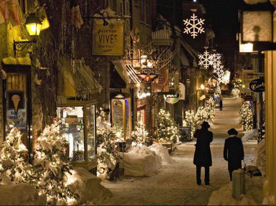 imajen de calle luminosa invernal