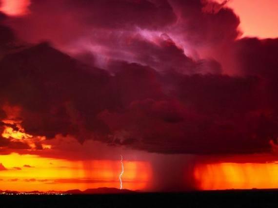 Fotografia de tormenta huracan